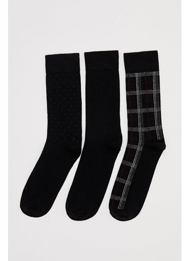 DeFacto Uzun3'lü Soket Çorap Siyah